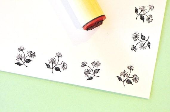Flower Cluster Rubber Stamp