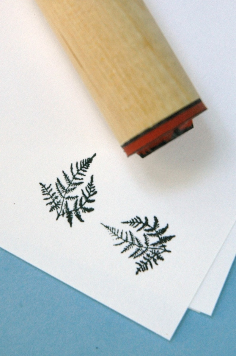 Delicate Fern Rubber Stamp image 0