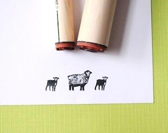 Sheep and Lamb Rubber Stamp Set
