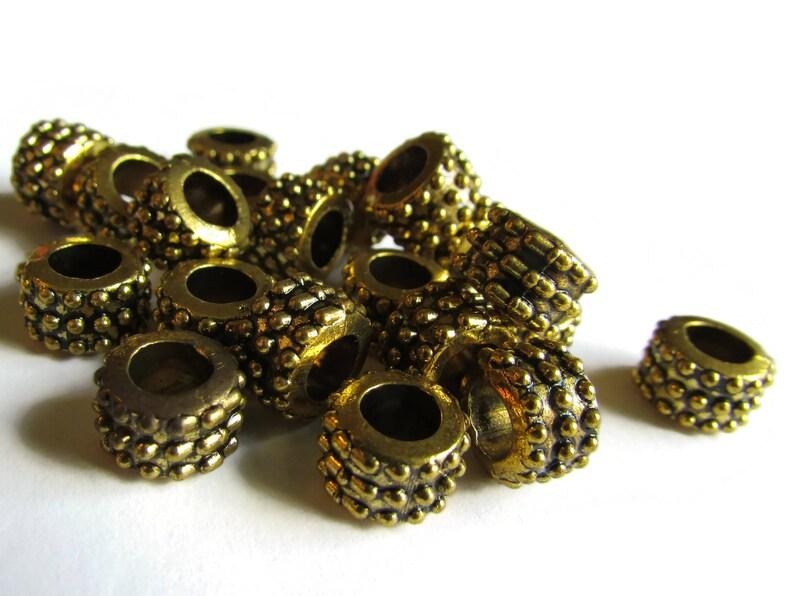 15 Grand Ovale 30 mm x 20 mm en bois perles vert 9 mm trou