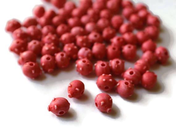 9 Glasperlen Tier Perlen Schnecken weiß Tierperlen 741
