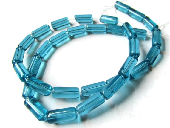 18mm Large Blue Mosaic Turquoise Abacus Rondelle Beads Beads 15