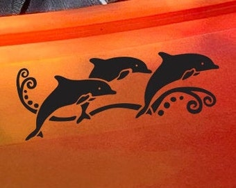 NEW! Dolphin Pod - Large - Kayak Decal
