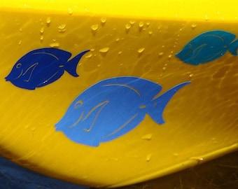 Blue Tang, SMALL or MEDIUM, Kayak Decal