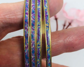 Handmade,Crochet Chunky Swatch Bangle,Purple and Green,Pretty,willowtreegb,Etsy.com