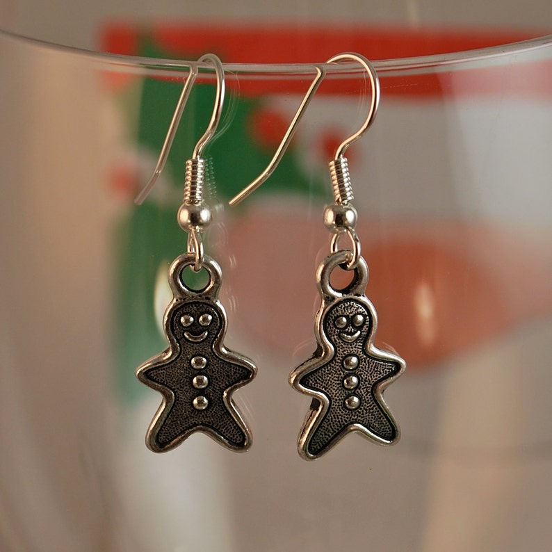 Gingerbread Man Earrings  Tierracast image 0