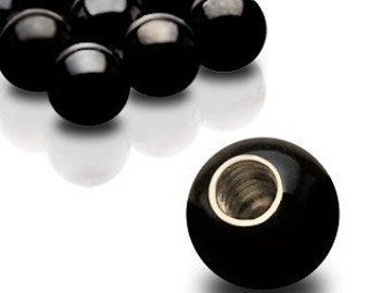 Black 14g Belly Button Ring Replacement Ball, 5mm