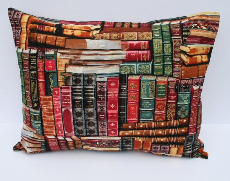 12x16Travel Pillowcase  ~ Classic Leather Bound Books  Leather Book Stack Library Books  Book Lover Librarian Bibliophile Gift