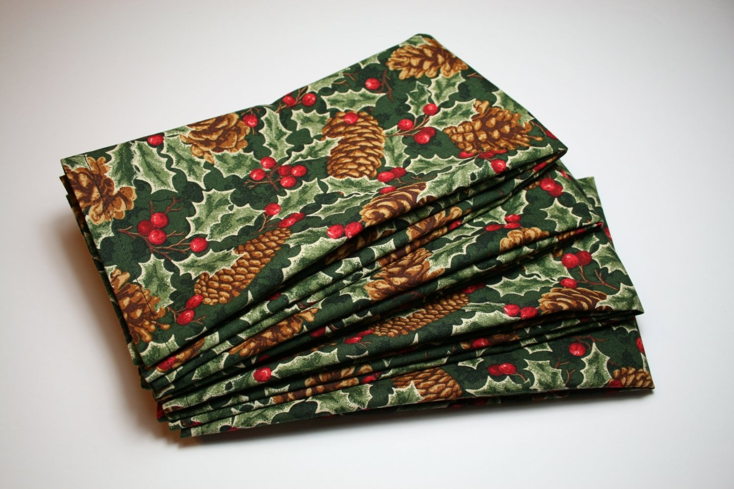 Large Christmas Dinner Table Cloth Napkins Set Of 6 Etsy