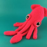 Squid - PDF amigurumi crochet pattern