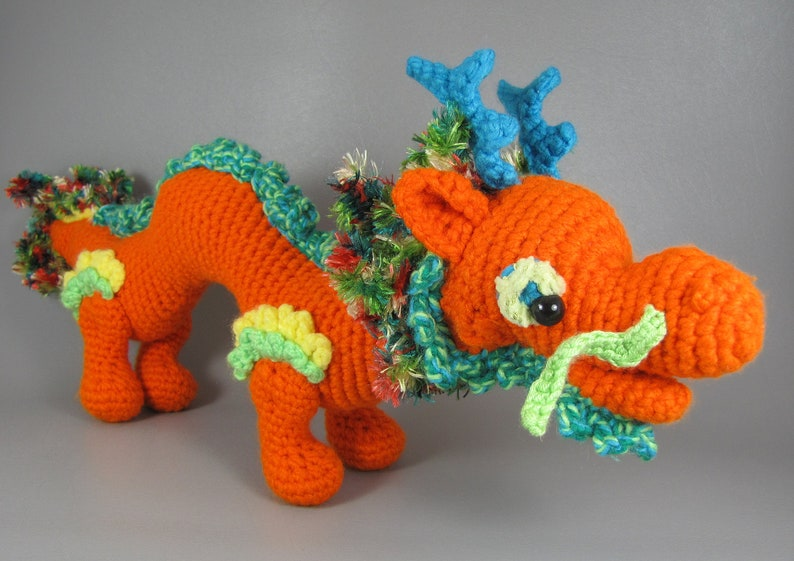 Asian Dragon  PDF amigurumi crochet pattern image 0