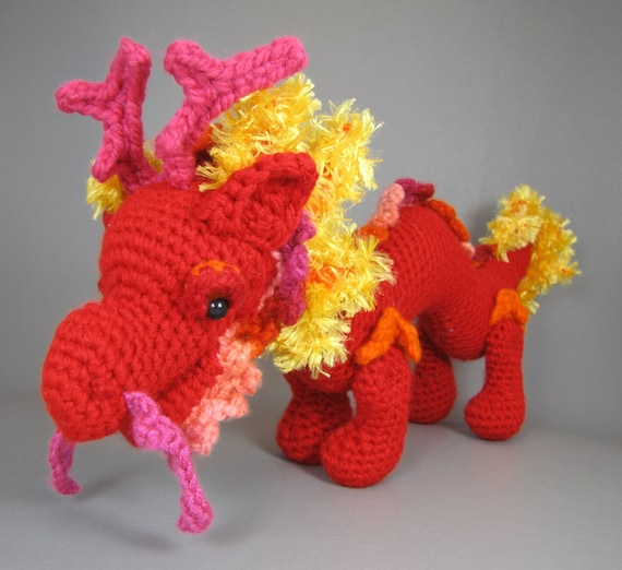 Asian Dragon amigurumi pattern by Christina Powers (With images ... | 522x570