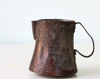 Primitive Copper Pitcher