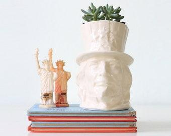 Vintage McCoy Vase, Uncle Sam