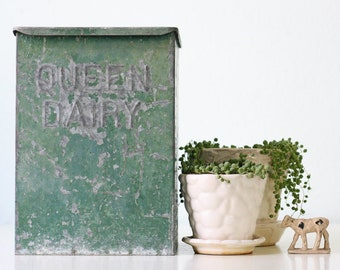 Vintage Queen Dairy Box, Ice Box, Milk Man Porch Box