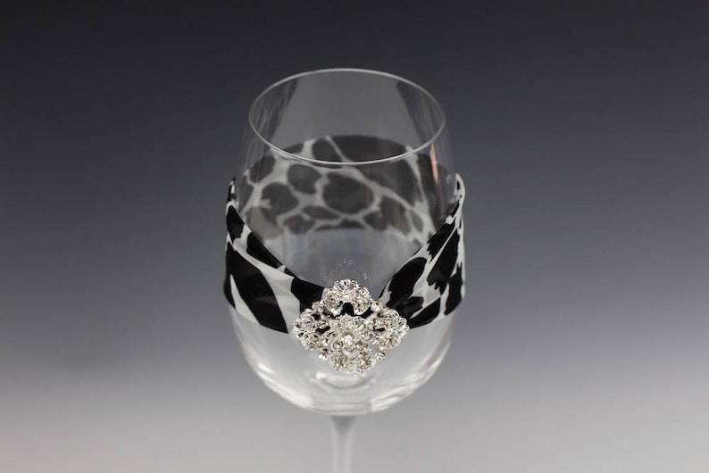 Fancy Wine Glass Decorations Decorative Wine Glasses Decorated 13oz Wine Glass Wine Glass Garter Fancy Wine Glass Wine Glass Jewelry