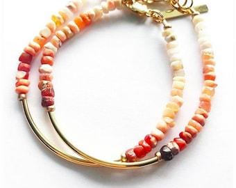 Boho Ombre Bracelet- Opal Bracelet- Crystal Jewelry - Ombre Jewelry
