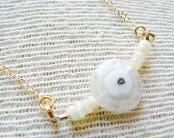 Dainty Boho Necklace Gem Stone Necklace- Pippa