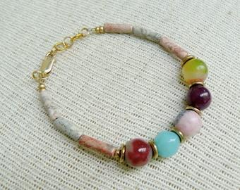 Boho Gem Stone Bracelet- Spectra