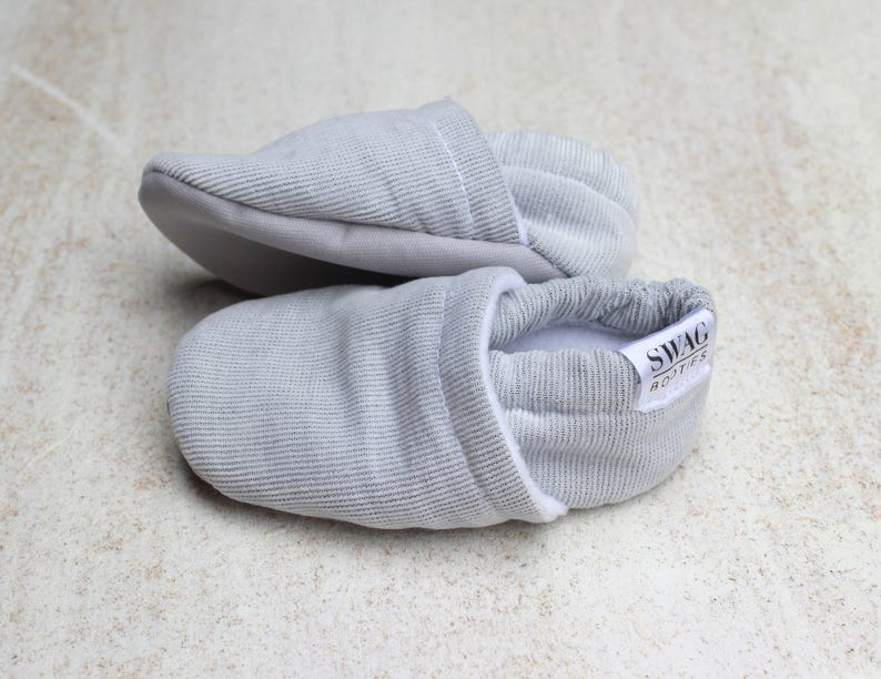 fa85314ec56d5 Baby Shoes Baby Booties boy girl toddler slippers soft soled shoes Corduroy  SWAG Light Grey Gray gift newborn infant gender neutral