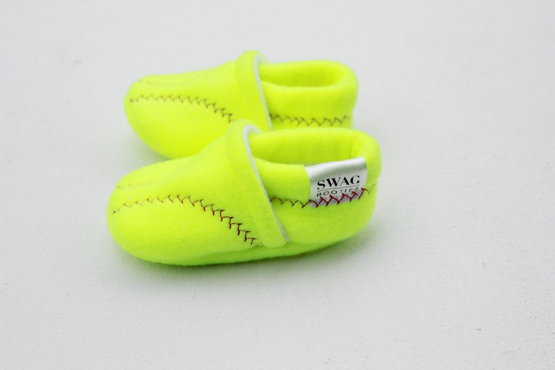 6aa48eabf7591 Baby Shoes baby booties girl shoes boy SOFTBALL Booties Toddler Infant  Newborn Slippers Red White Soft Ball Sports Non Slip Soft Soled SWAG