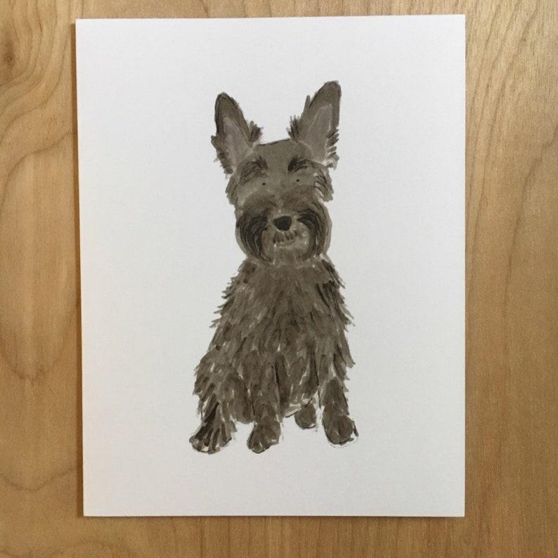 ADD ON ITEM  custom pet portrait note cards A2  4 1/4 X 5 image 0