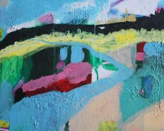 bella - original abstract landscape painting