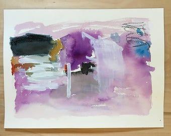 watercolor abstract 9 X 12 original contemporary art