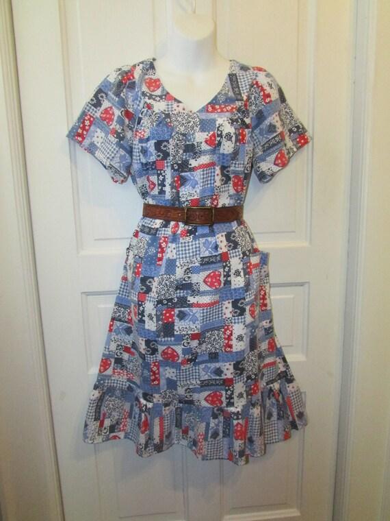 Vintage Patchwork House Dress