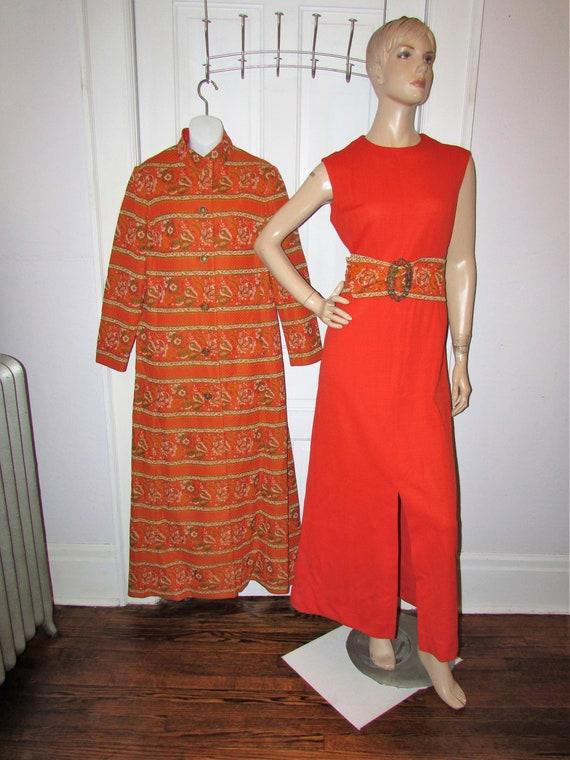 Vintage Maxi Polyester Dress 1970's Halloween Oran