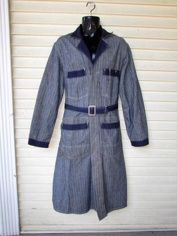 Vtg Engineer Machinist Jacket 1920's DETROIT OVERA