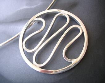 Sterling Silver Modern Wave Necklet