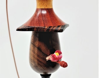 Miniature Bird House From Exotic Woods No. 141