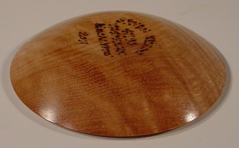 Curly Tasmanian Eucalyptus Turned Wooden Bowl Number 4290 by Bryan Tyler Nelson