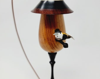 Miniature Bird House From Exotic Woods No. 142