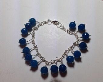 Apatite and Silver bracelet