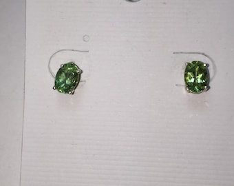 Apatite silver earring studs