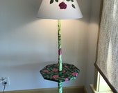 Hoping for Spring. Hand painted one of a kind floor lamp with table.