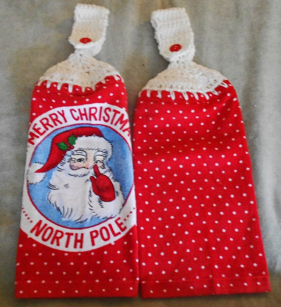 2 L Christmas XMAS Santa Sack cloth Gift Bag polka dots Hannukah Blue red white