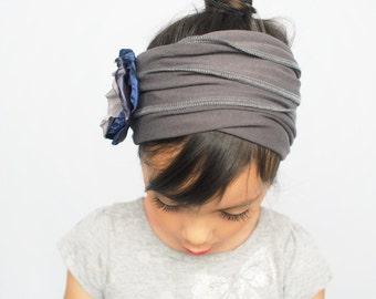 Women Grey Headband Girls Headband Yoga Headband Flower Headband Boho Headband Womens Hair Accessories Running Headband Headwrap Headband