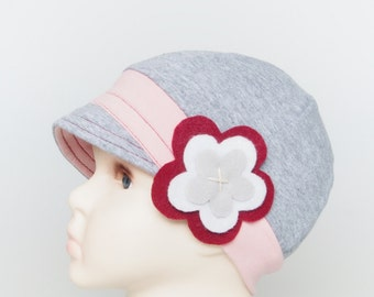 Girls Cancer Hat Women Alopecia Hat Chemo Headwear Kids Lupus Hat Leukemia Chemotherapy Beanie with Flower Hat for Children with Hair Loss