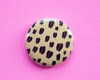 Leopard Print One Inch Button