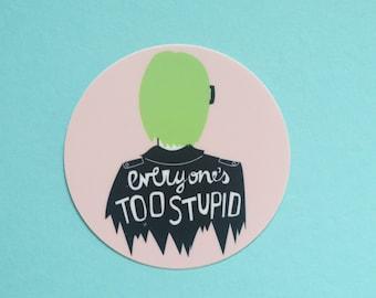 Ghost World Vinyl Round Sticker