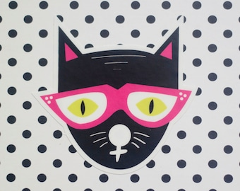 Cool Cat Vinyl Sticker
