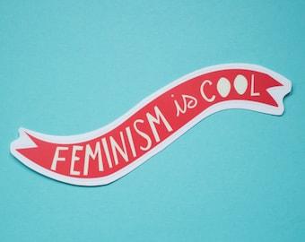Feminism is Cool Vinyl Sticker