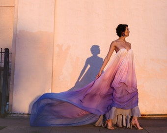 Strapless, Floor length, Trapeze Gown - Synesthesia by Cleo and Clementine