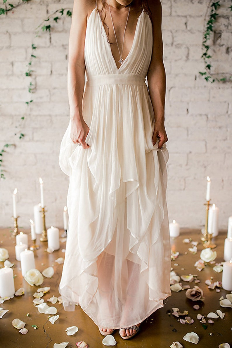 Silk Gauze Ombre Wedding Gown  The Clementine by Cleo and image 0