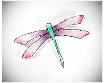 Libelle verschmolzen Glas-Wand-Kunst - Libelle Wandbehang - Schmelzglas Libelle - Libelle Dekor - Dragonfly-Wand-Kunst - Libelle Malerei