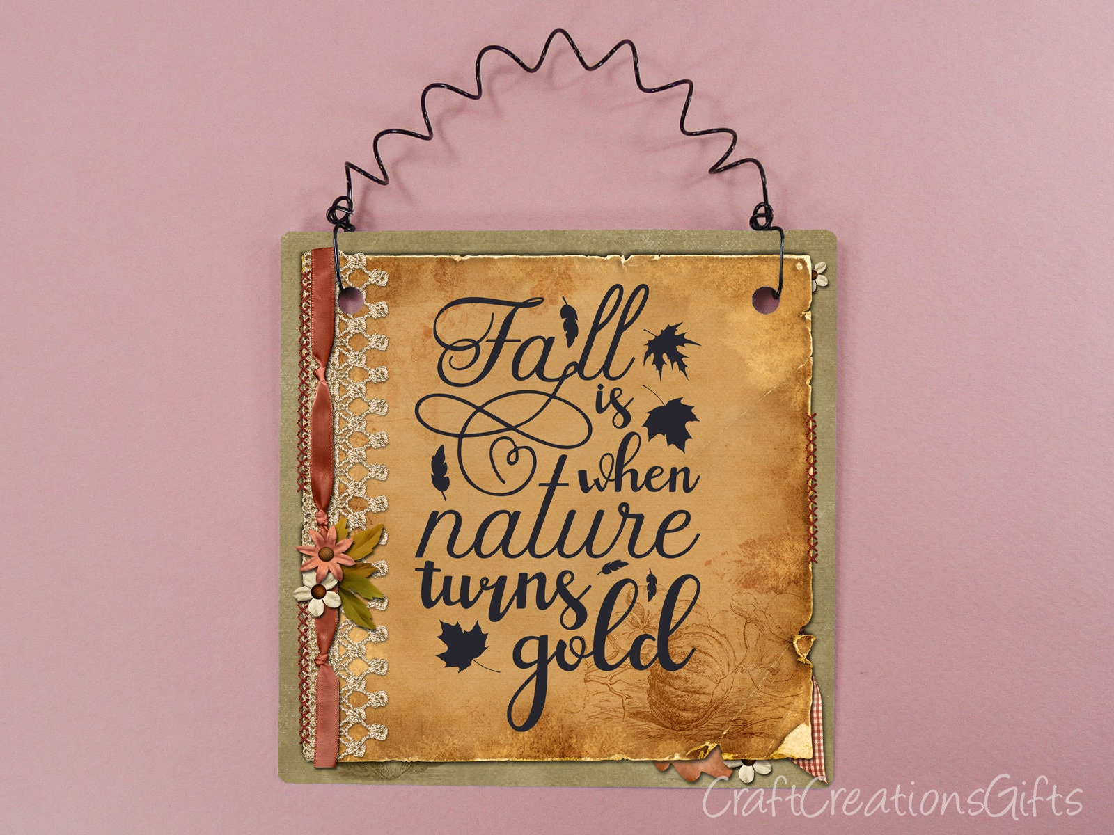 Autumn Sign Fall Is When Nature Turns Gold Quotes Sayings Etsy