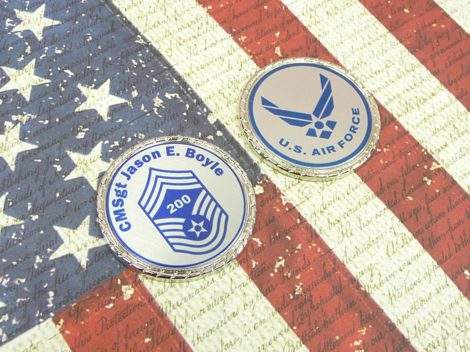US Air Force Retired Air Force Challenge Coin